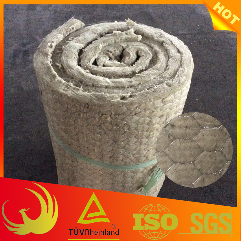 Thermal Heat Insulation Material Rock-Wool Blanket with Wire Mesh