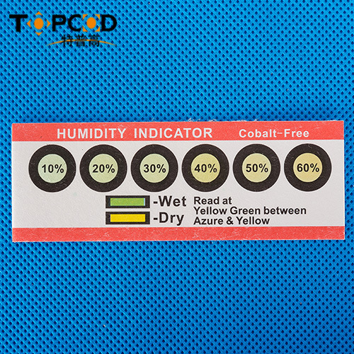 6 Dots Cobalt Free Hic Humidity Indicator Card From Yellow to Azure