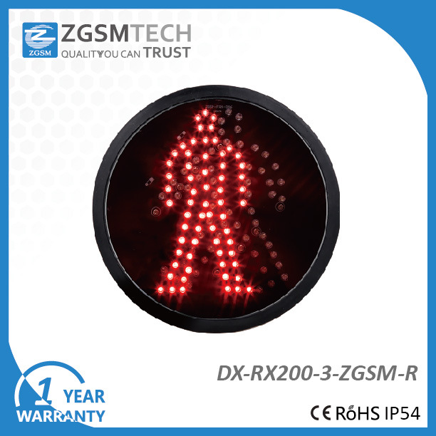 200mm Red Pedestrian Aspect LED Signal Modules