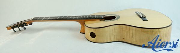 Aiersi All Solid Flame Maple Spanish Classical Guitar Sc100A
