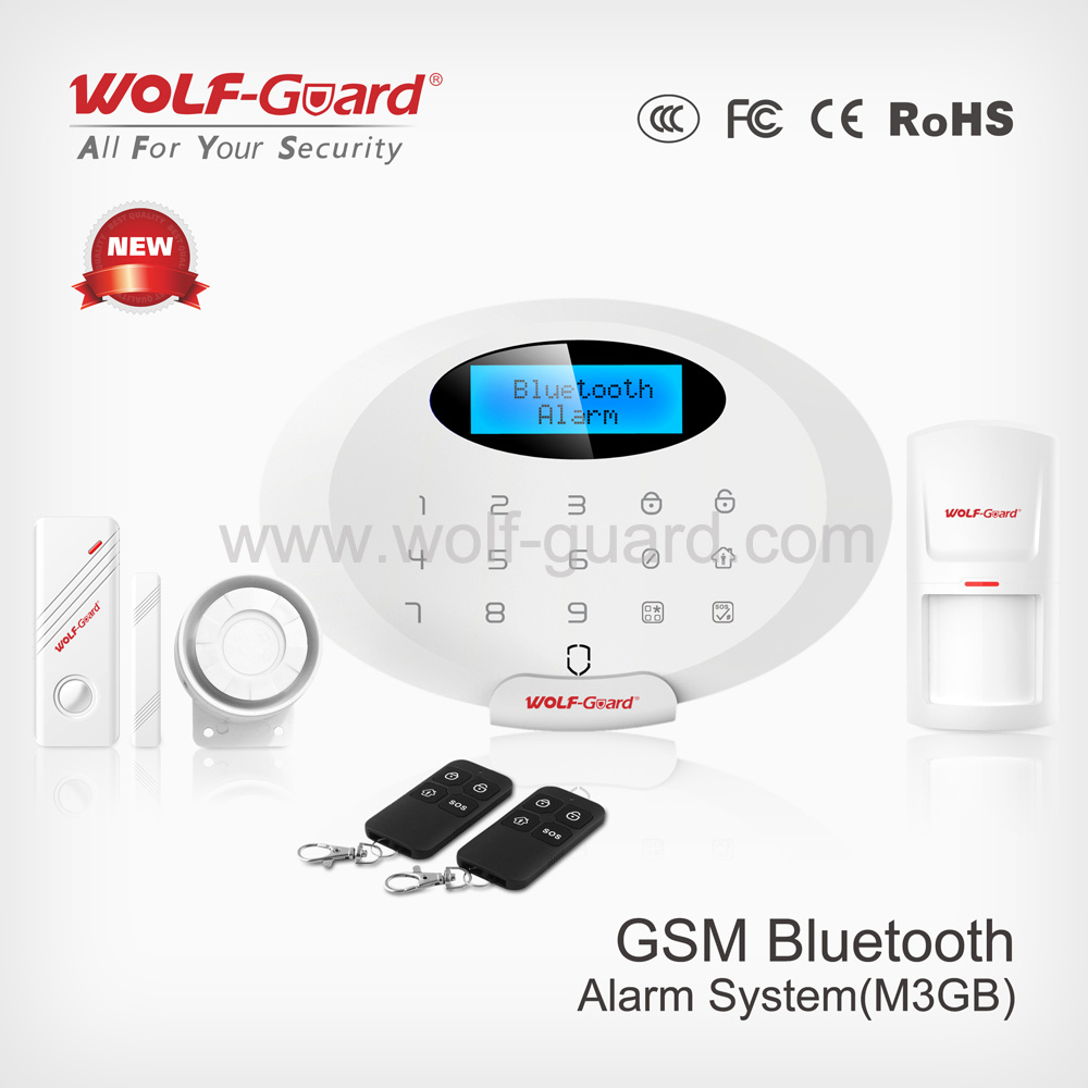 GSM House Security Wireless Intelligent Fire Alarm with Bluetooth APP