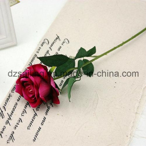 Wholesale Velvet Wedding Rose Flower for Decoration (SF16222)