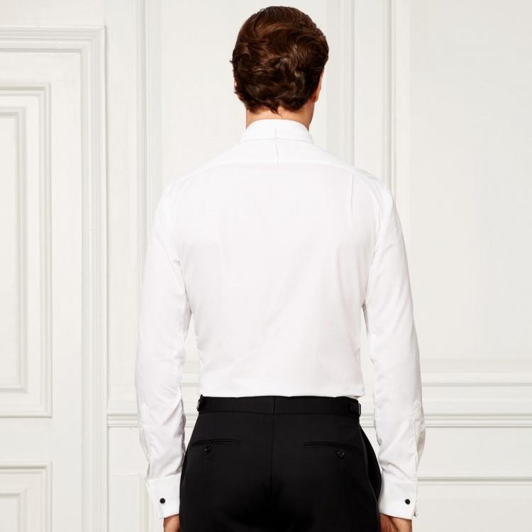 Made to Measure 100% Cotton White Dress Shirt Tuxedo Shirt for Men