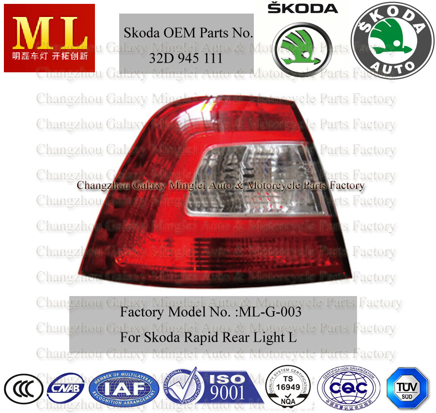 Rearlight for Skoda Rapid From 2012 (32D 945 111)