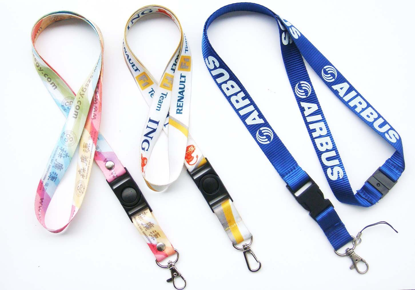 Hotsale Fashion Design Colorful Polyester Neck Lanyards with Custom Logo 59
