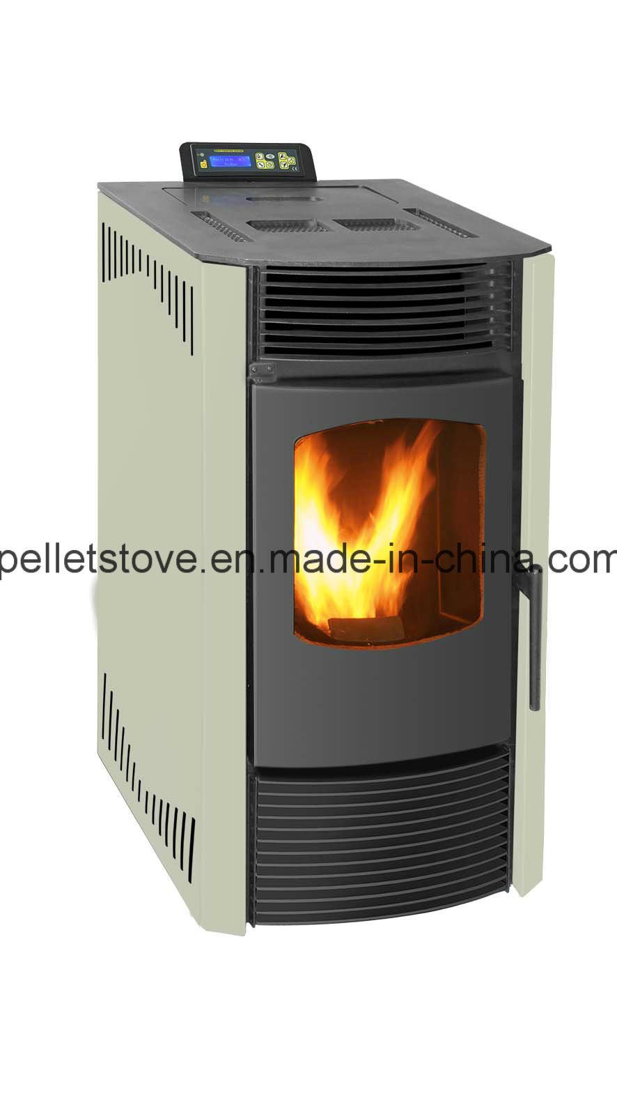 TUV Certified Indoor Using Automatic Wood Pellet Stove with Remote Control