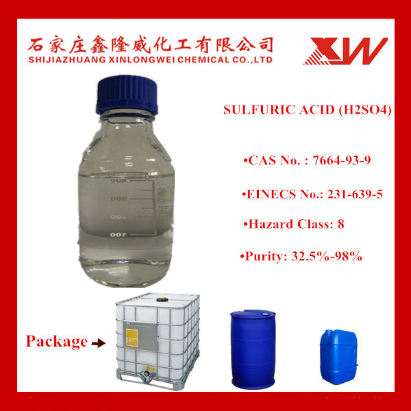 Sulfuric Acid 98% 96% 40% 32.5% (China Manfacturer)