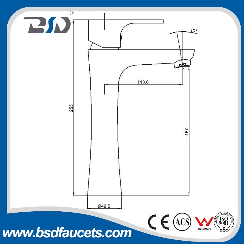 Ceramic Cartridge Gravity Casting Brass Body Basin Faucet