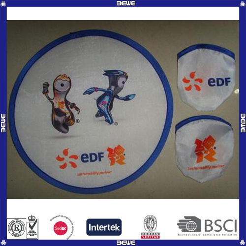 Low Price Customized Foldable Frisbee with Pouch