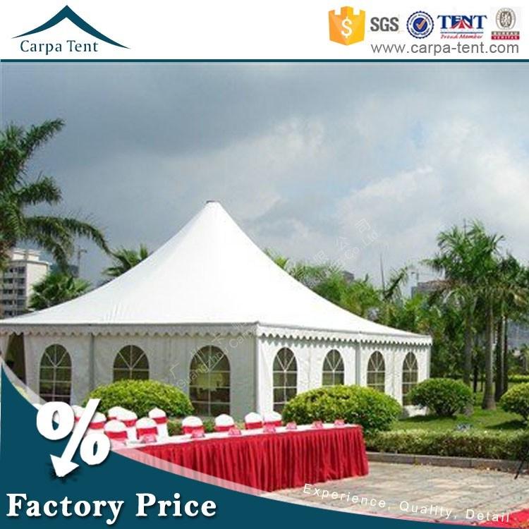 7m X 7m Large Luxury Wedding Pagoda Tents with Chiffon Decoration