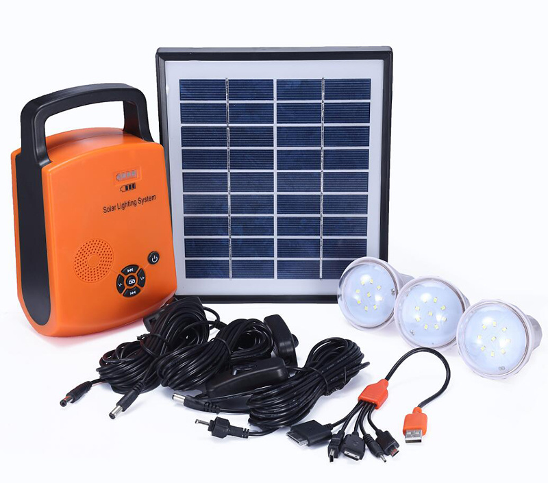 4W Portable Solar PV Panel Power Energy Lighting Kit