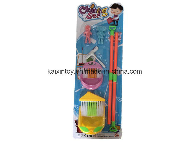 Plastic Toy of Cleaning Play Set