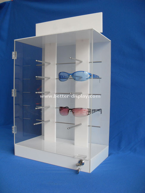 Custom Acrylic Locking Sunglass Display Cabinet