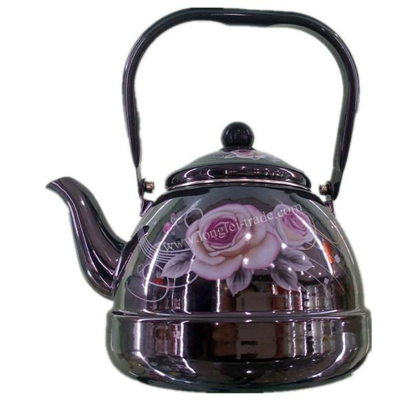 Kitchen Utensils, Porcelain Enamel Teapot, Enameled Kettle, Carbon Steel Kettle