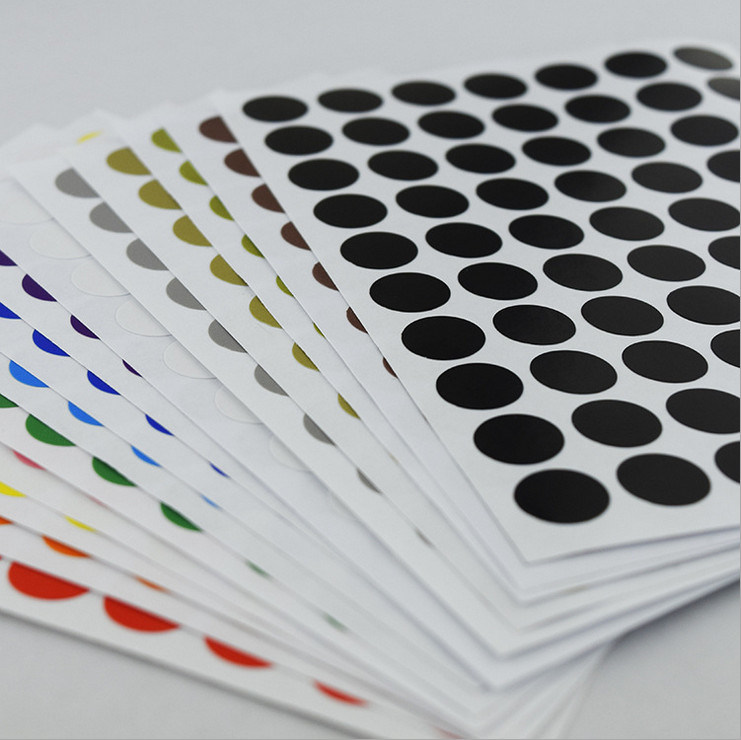 Custom Printed Waterproof Adhesive Paper Round Label Sticker
