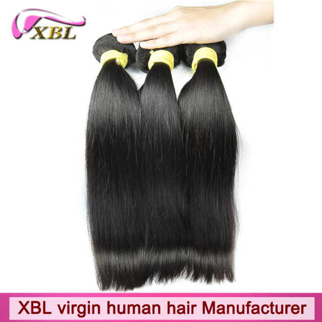 Natural Human Hair Weft Unprocessed Virgin Peruvian Hair Extension