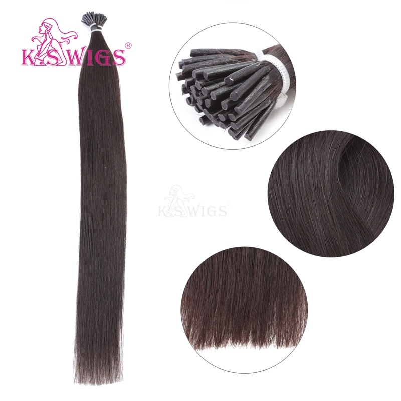 K. S Wigs New 2016 I Tip Hair Keratin Hair Extension 100% Brazilian Human Hair