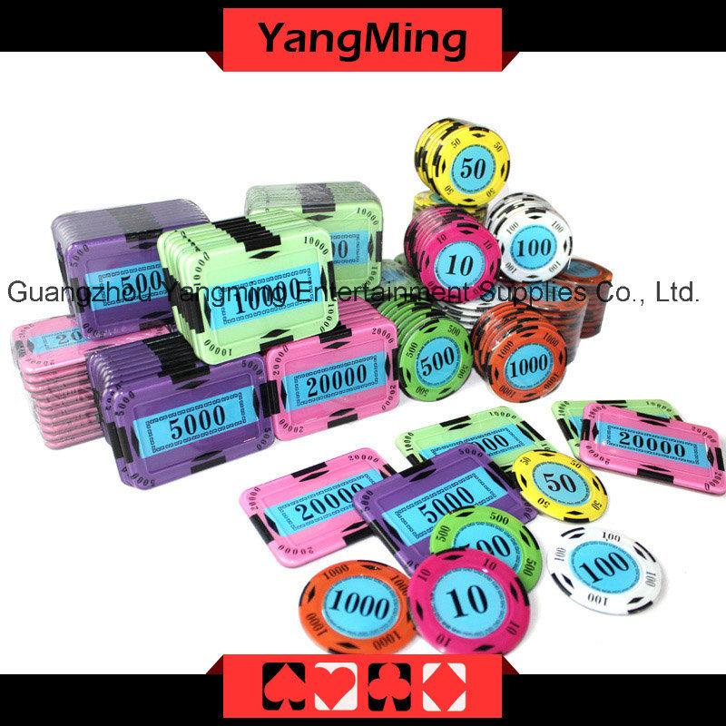 Crystal Screen Poker Chip Set 730PCS (YM-SYCP001)