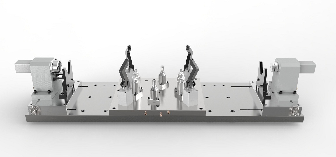 Custom Hydraulic Workholding with Boring Lute Hole of Rear-Axle Housing