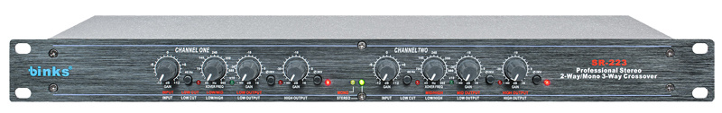 Sr-223 Stereo 2-Way/Mono 3-Way Professional Audio Crossover