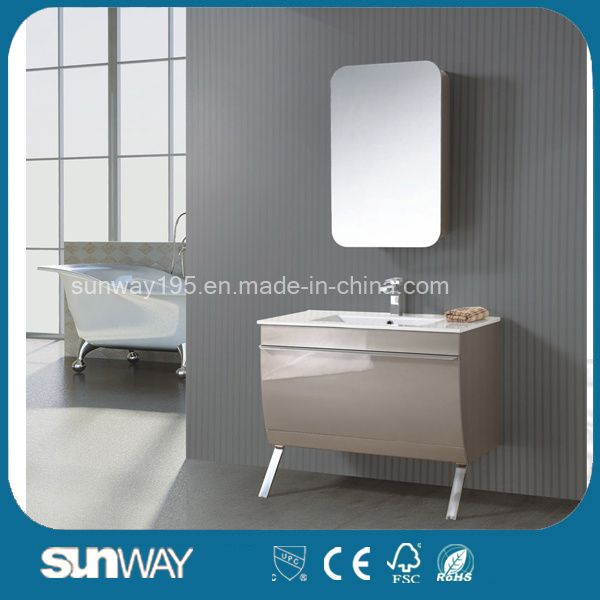 Hot Sell High Gloss MDF Bathroom Cabinet with Mirror