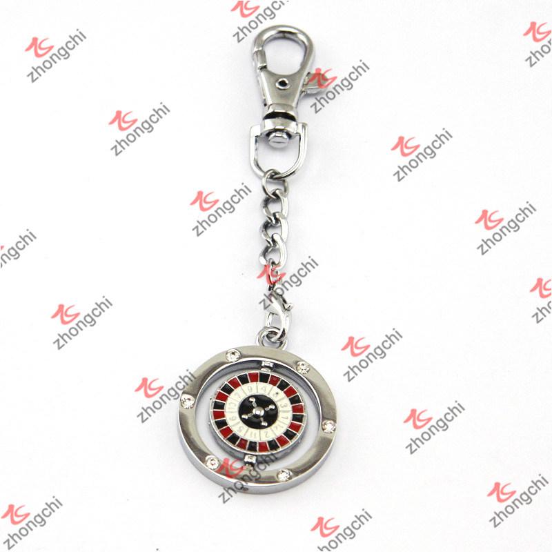 Spinning Metal Digital Bets Keychain for Gambling Souvenir Gift (KR15121436)