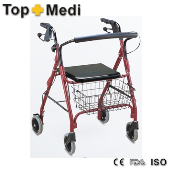 Safety Aluminum Frame Rollator with Hand Brake