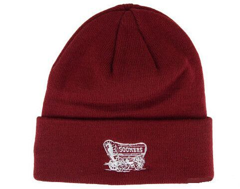 Solid Red Winter Knit Cuff Beanie Hat