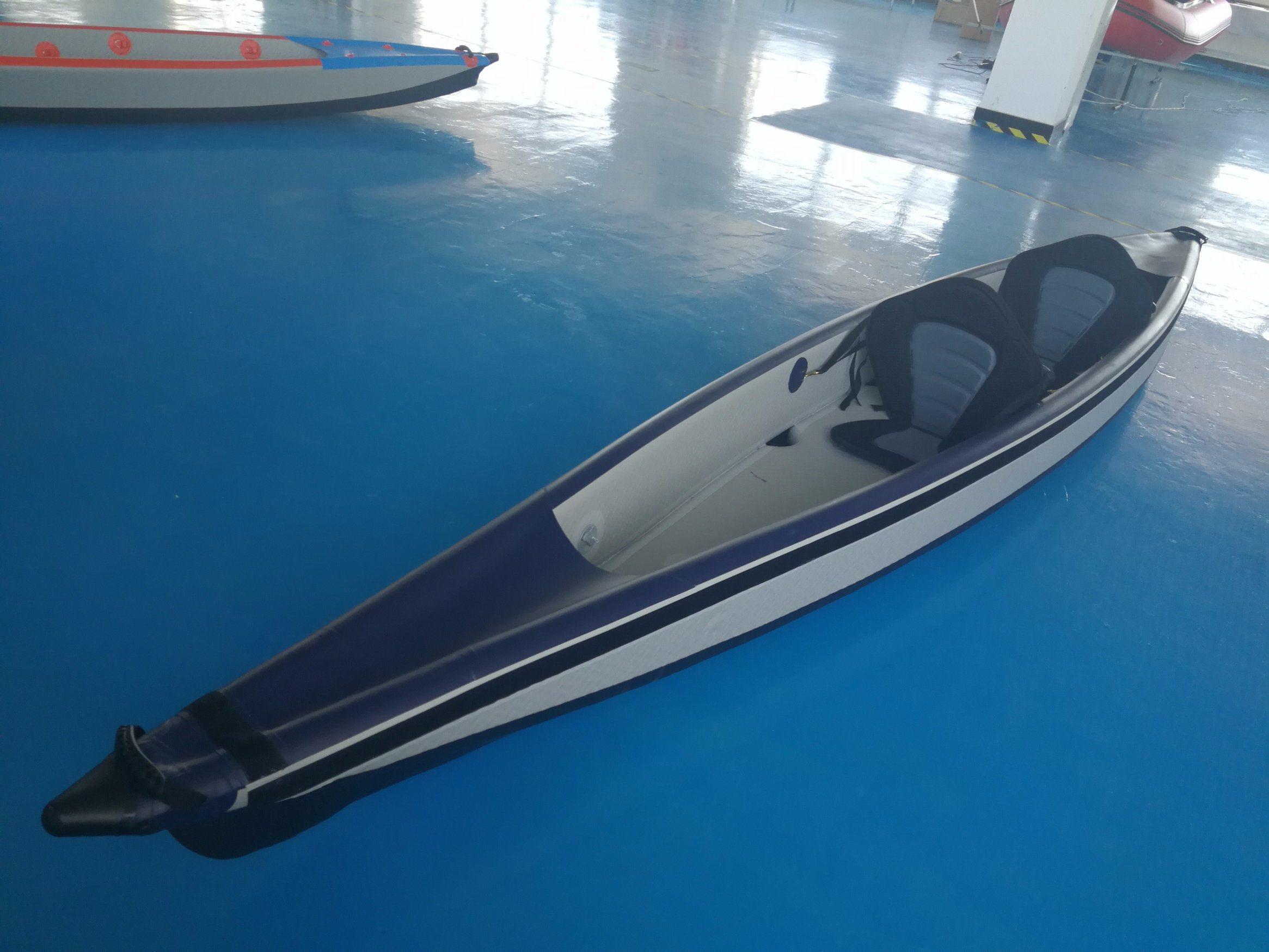 Inflatable Folding Drop Stitch Kayak, Sit on Top Ocean Kayak