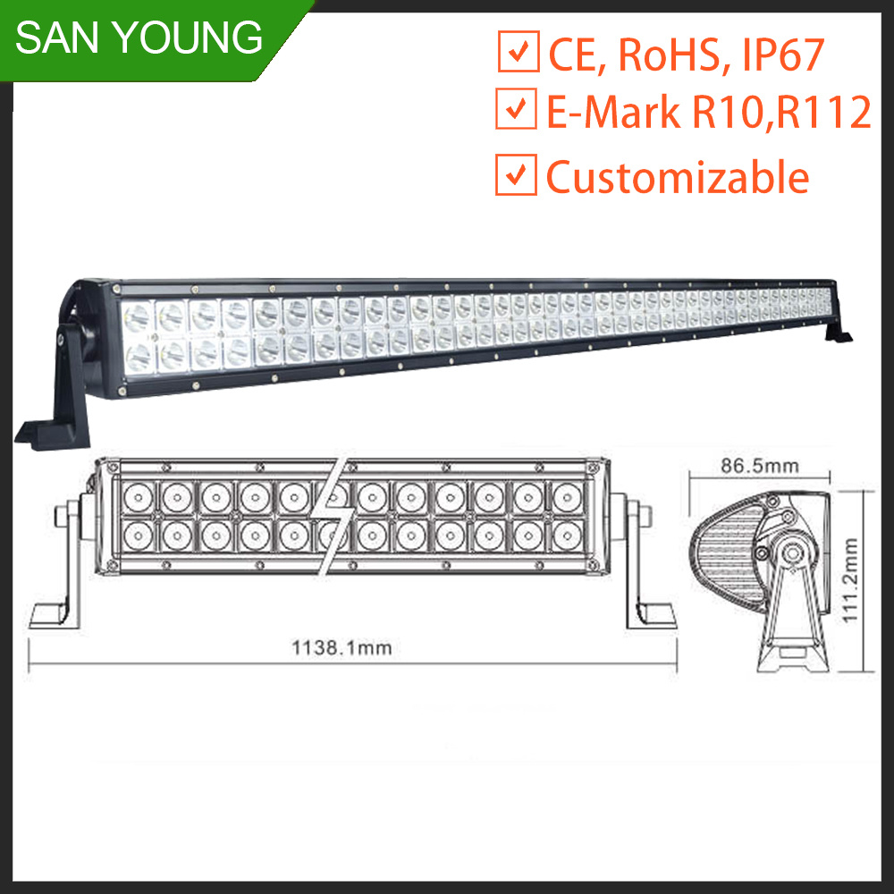 LED off Road Light Bar 50 Inch 288W CREE for off Road Driving 4X4 6X6