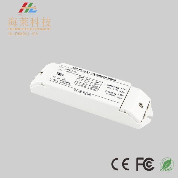 0/1-10V Push Dim 10A*1channel LED Dimming Driver