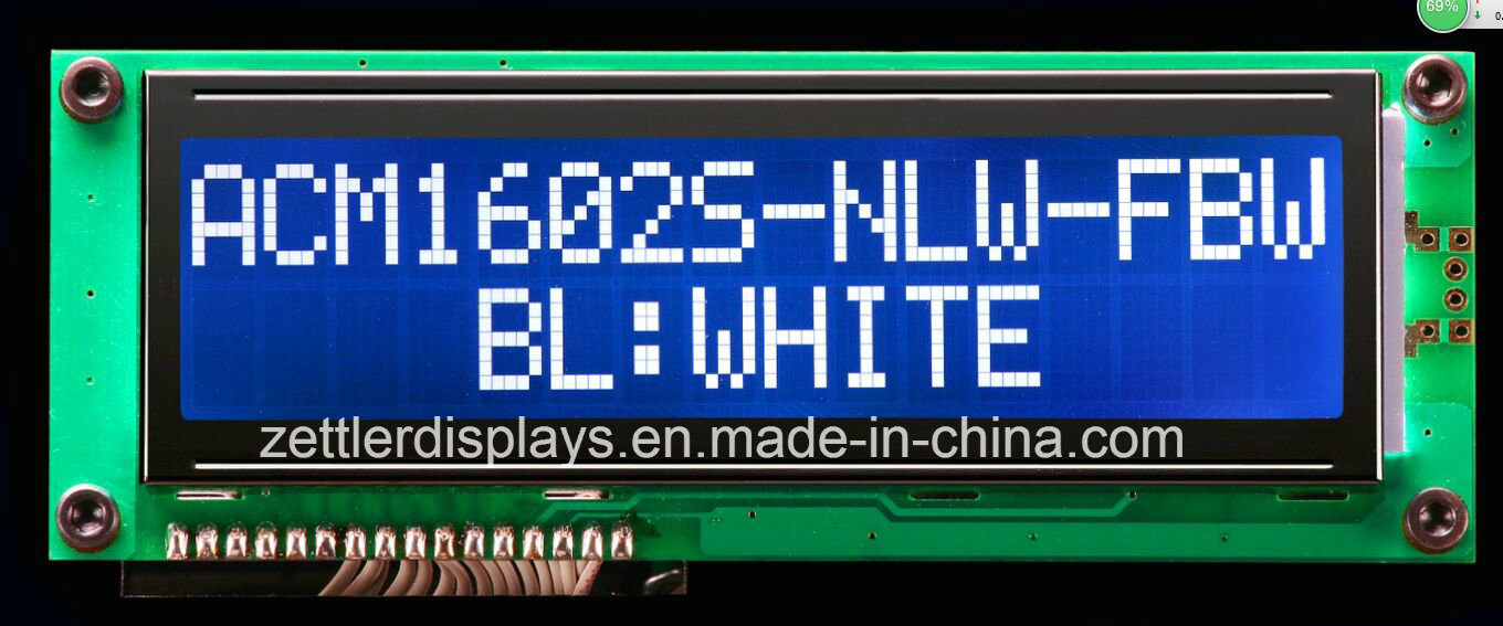 FSTN Character LCD Display Module 16X2 Lines: Acm1602s-Nlw-Fbw