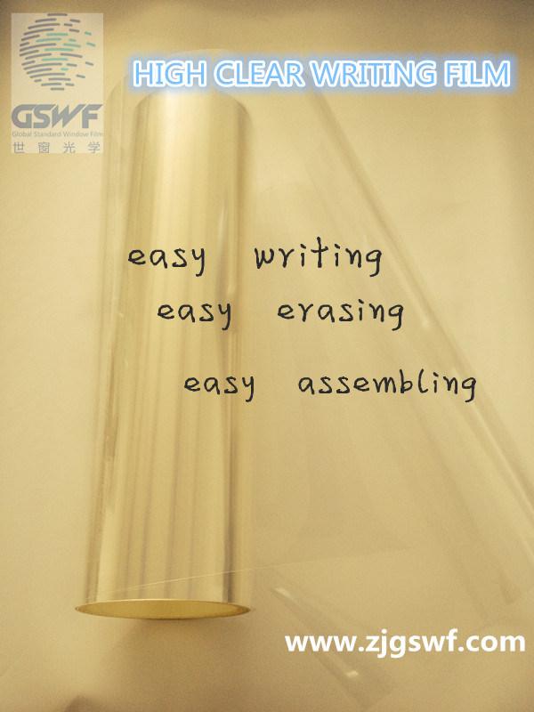 Clear Self-Adhesive Dry Erase Writing Film as Whiteboard (WF104)