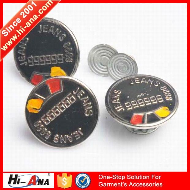 SGS Certification Various Colors Jeans Metal Button
