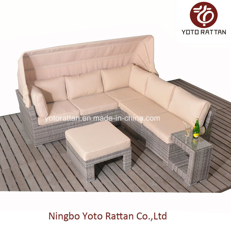 Hot Rattan Sofa with C-Table for Outdoor (5091)