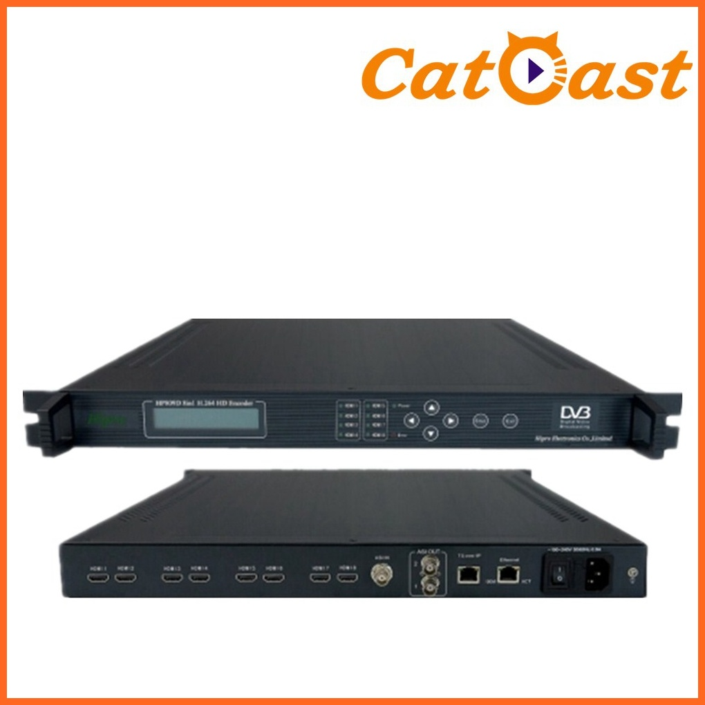 8 In1 8*HDMI+Asi Input MPEG-4 Avc/H. 264 with IP Output HD Encoder