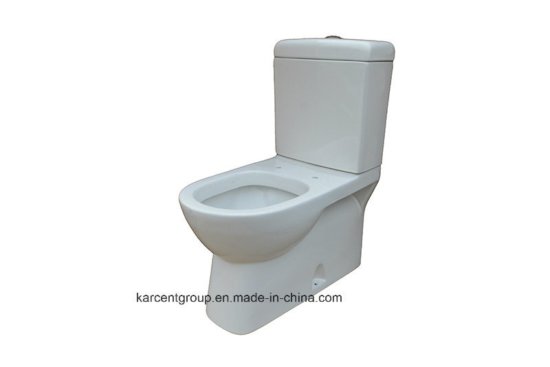 Two Piece Ceramic Toilet Washdown Toilet Water Closet Wc 00119