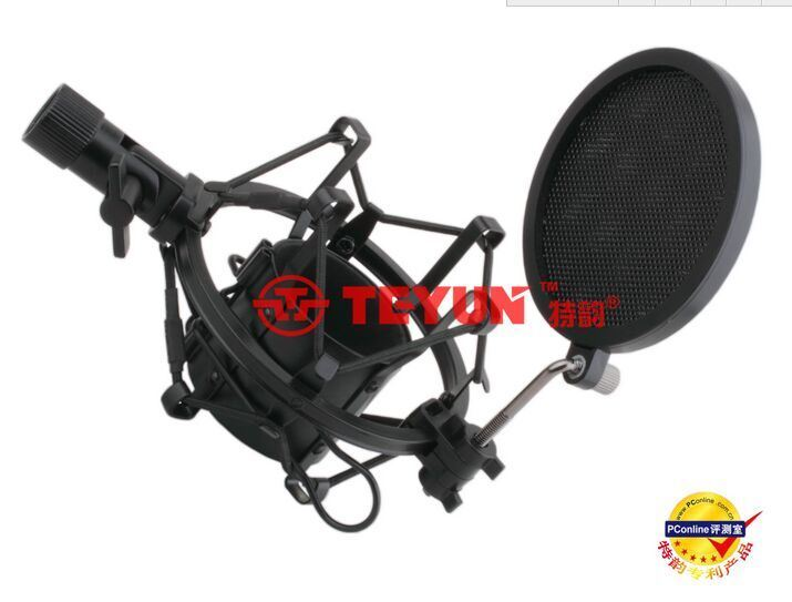 PS-2 Iron Mesh Pop Filter for Broadcasting / Recording / Karaoke Microphones Wind Screen