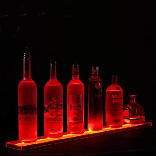 Illuminated Acrylic Wine Bottle Display Plinth, POS Display Merchandising