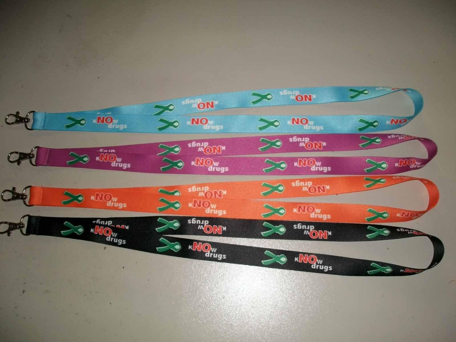 Hotsale Fashion Design Colorful Polyester Neck Lanyards with Custom Logo 59
