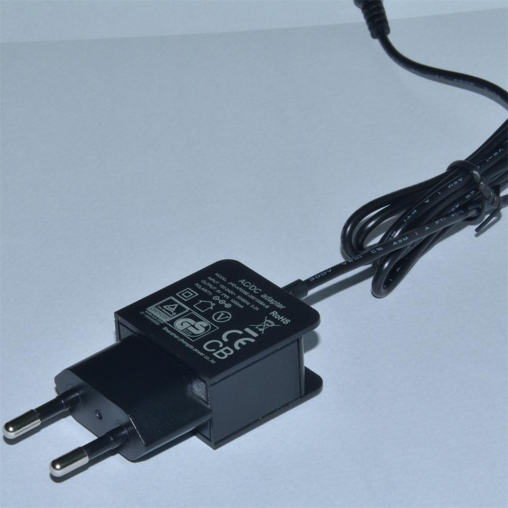 5V1000mA AC/DC EU Plug Power Adapter with CE, GS Certificate