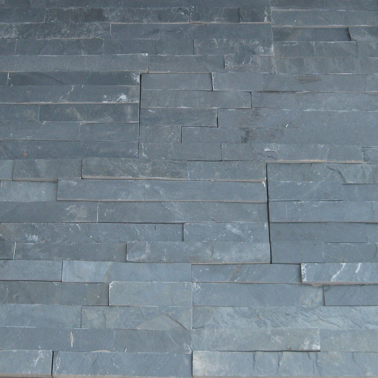 China Black Slate Cultured Wall Stone