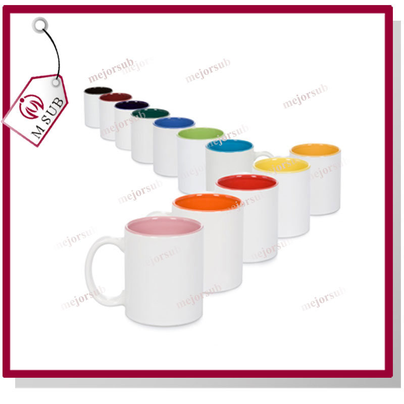 Cheap 11oz Inner Color Sublimation Ceramic Mug
