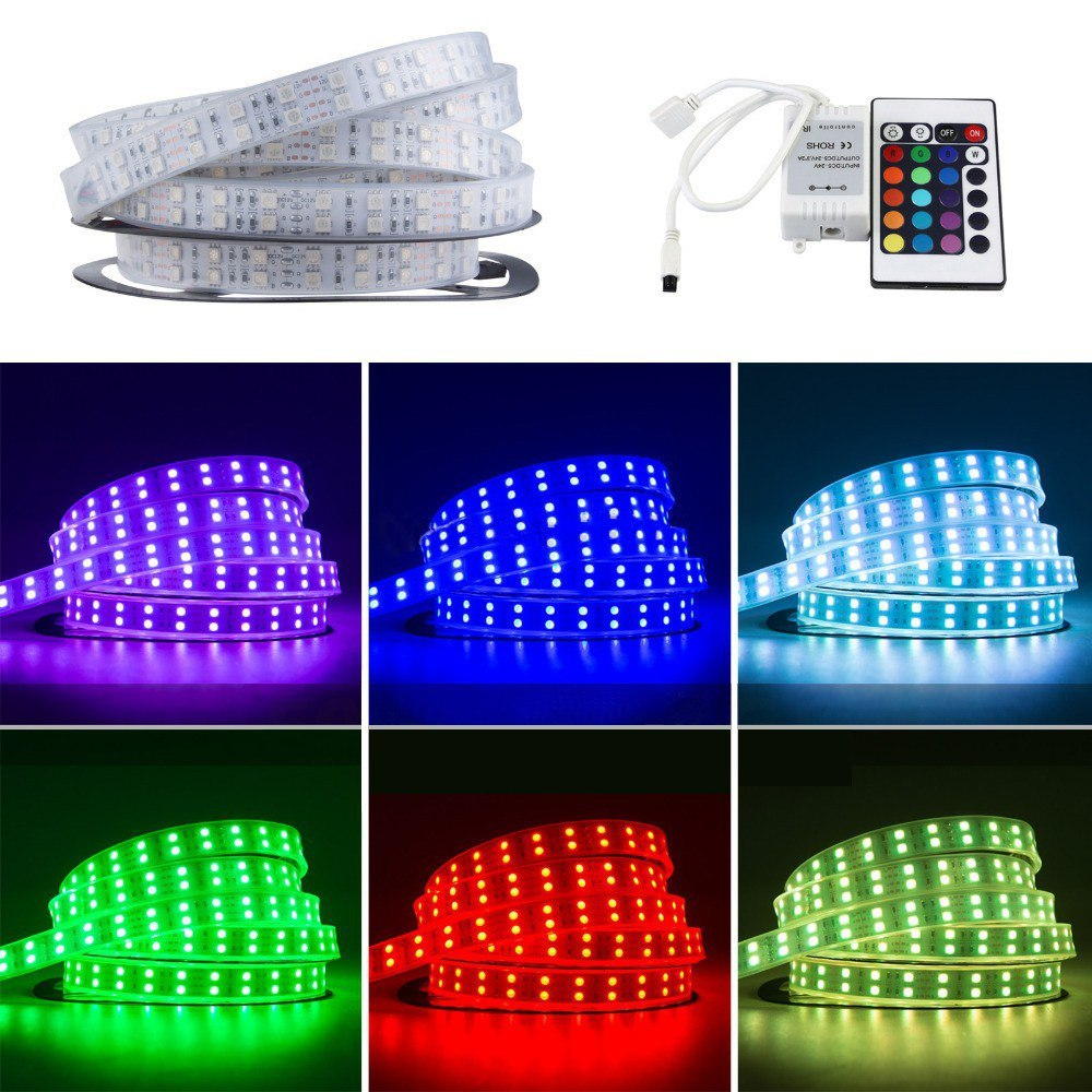 RGB Color Changing 120LEDs/M Double Line SMD 5050 LED Strip