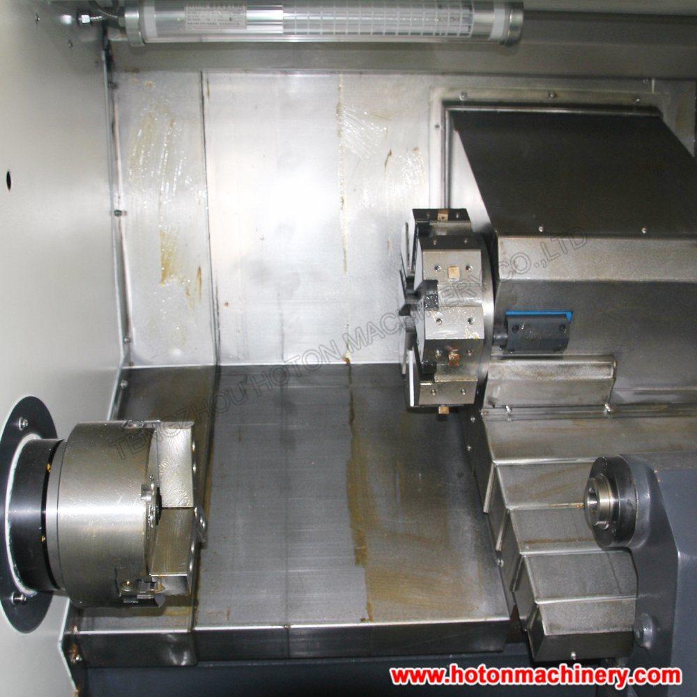 China Slant Bed Linear Guide CNC Lathe M...