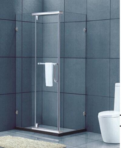 Bathroom Tempered Glass Staniless Steel Frame Glass Shower Room (H016C)