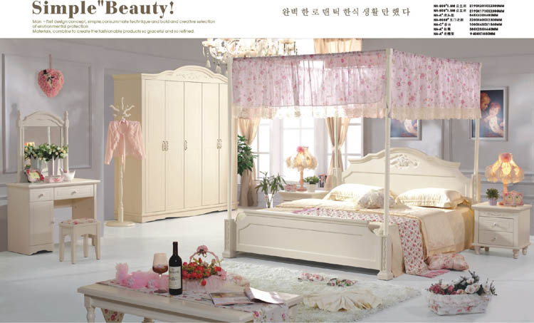 traditional korean bedroom furniture sets with canopy