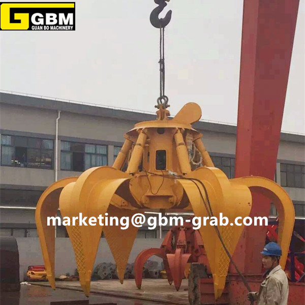Electro Hydraulic Multiple Tine Steel Scrap Grab Buckets