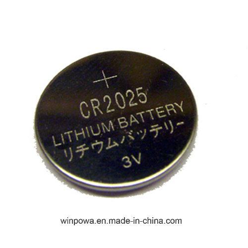 3V Flat Lithium Battery Cr2025