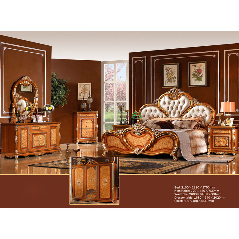 Chinese Antique Bedroom Furniture With Fabric Bedhead YF W829 Photos